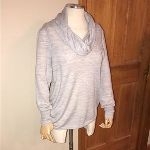 Ann Taylor Light Grey Cowl Neck Sweater